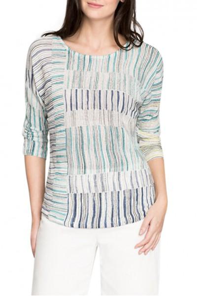 Nic+Zoe - Women's Sea Wall Stripes Top - Multi