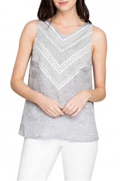 Nic+Zoe - Women's Sandy Sequins Tank - Indigo Wash