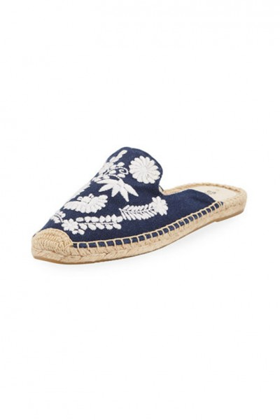 Soludos - Women's Ibiza Embroidered Mule - Midnight Blue