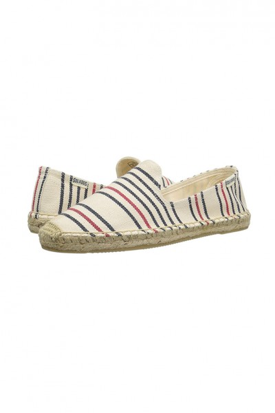 Soludos - Women's Striped Smoking Slipper - Red Navy Natural