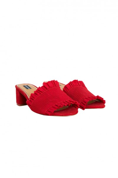 Jaggar - Women's Stitched Block Heel - Red