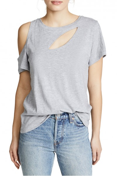 LNA - Women's Bloom Tee - Heather Grey