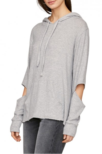 LNA - Women's Brushed Axel Hoodie - Heather Grey