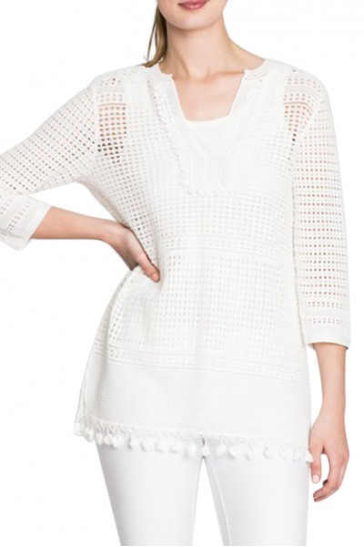 Nic+Zoe - Women's Right On Track Tunic - Paper White