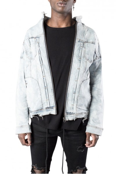 Kollar - Men's Denim Jacket - Light Blue