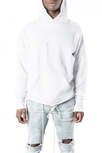 Kollar - Men's Tie Up Hoody - White