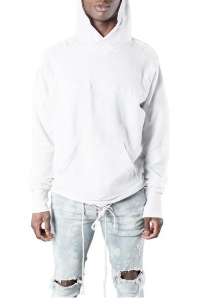 Kollar - Men's Tie Up Hoody - White