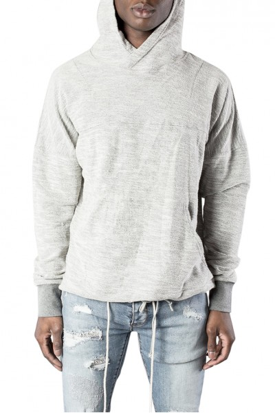 Kollar - Men's Tie Up Hoody - Grey