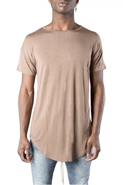 Kollar - Men's Essential Scoop Tee - Taupe