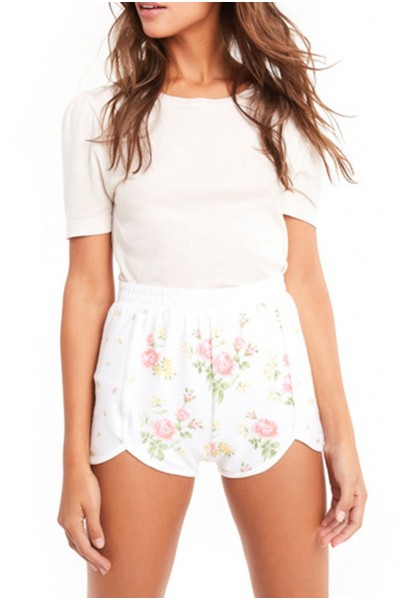 Wildfox  - Women's Patchwork Floral Lane Shorts - Multi Colored