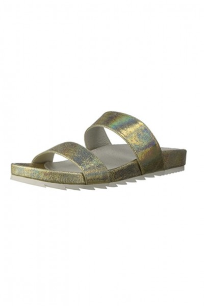 Jslides - Women's Edie Leather - Platino Crinkle