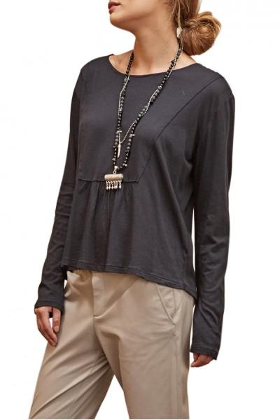 Sacks - Women's Abin Front Cut H Made T-shirt - Black
