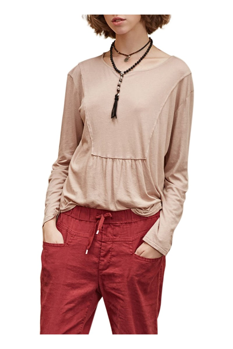 Sacks - Women's Abin Front Cut H Made T-shirt - Sand