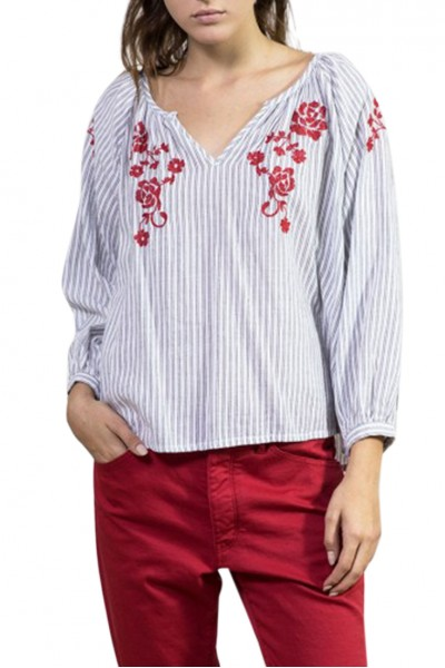 Sacks - Women's Sabrina Embroidered Blouse - Red