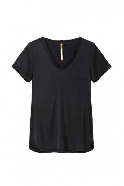 Sacks - Women's Juan V Neck T Shirt - Black