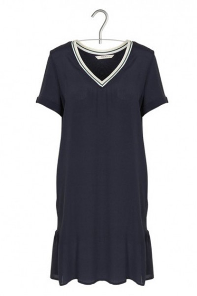 Sacks - Women's Short flowing V-neck dress - Navy