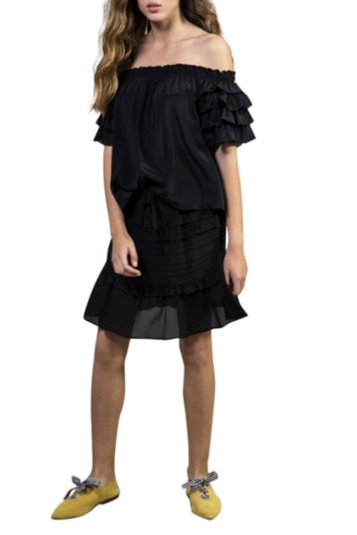 Sacks - Women's Daizy ruffled skirt - Black