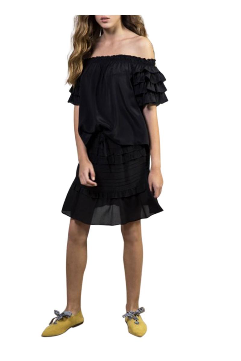 Sacks - Women's Daizy ruffled skirt - Black