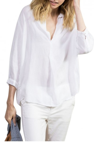 Sacks - Women's Lin boxy shirt - White