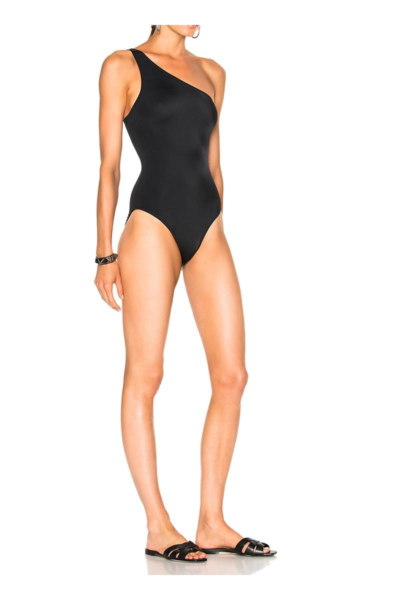 Norma kamali women 39 s one shoulder mio swimsuit black - Norma kamali costumi da bagno ...