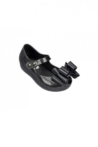 Mini Melissa - Kids Ultra Girl Sweet III BB Shoe - Black Silver Glitter