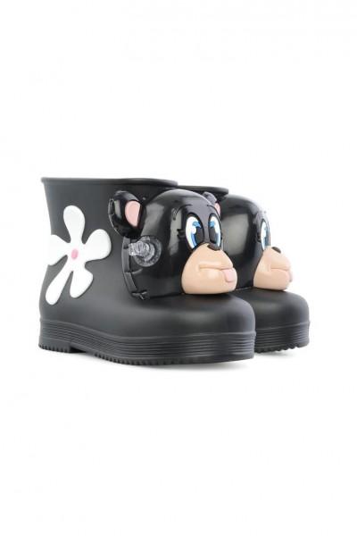 Mini Melissa - Mar Wedge Ad Shoe - Black