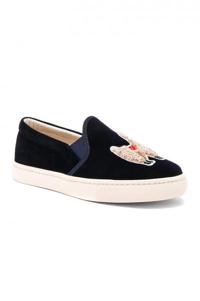 Soludos - Women's Velvet Llama Sneaker - Navy