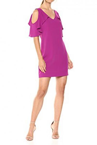 Trina Turk - Women's Kaidence Cold Shoulder Dress - Bouganvilla