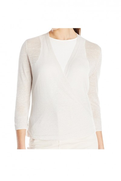 Nic+Zoe - Women's Lightweight Way Cardy - Paper White