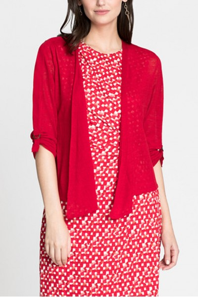 Nic+Zoe - Women's Take Comfort 4 Way Cardy - Red Sangria