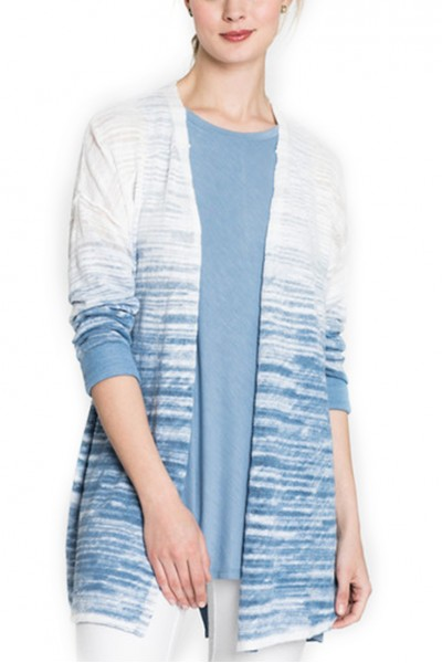 Nic+Zoe - Women's Open Breeze Ombre Cardy - Blue Haze