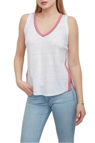 Generation Love - Women's Matilda Brocade Trim - White Pink