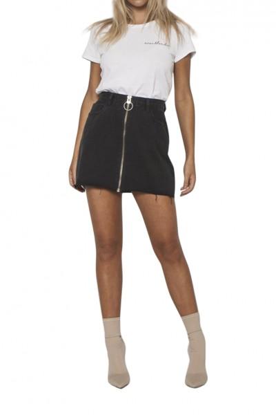 Neon Blonde - Women's Chaser Zip Skirt - Black