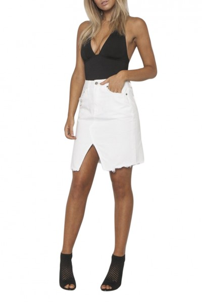 Neon Blonde - Women's Strutt Skirt - White Lies