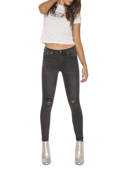 Neon Blonde - Women's Blondie Mid Rise Skinny - Crazed