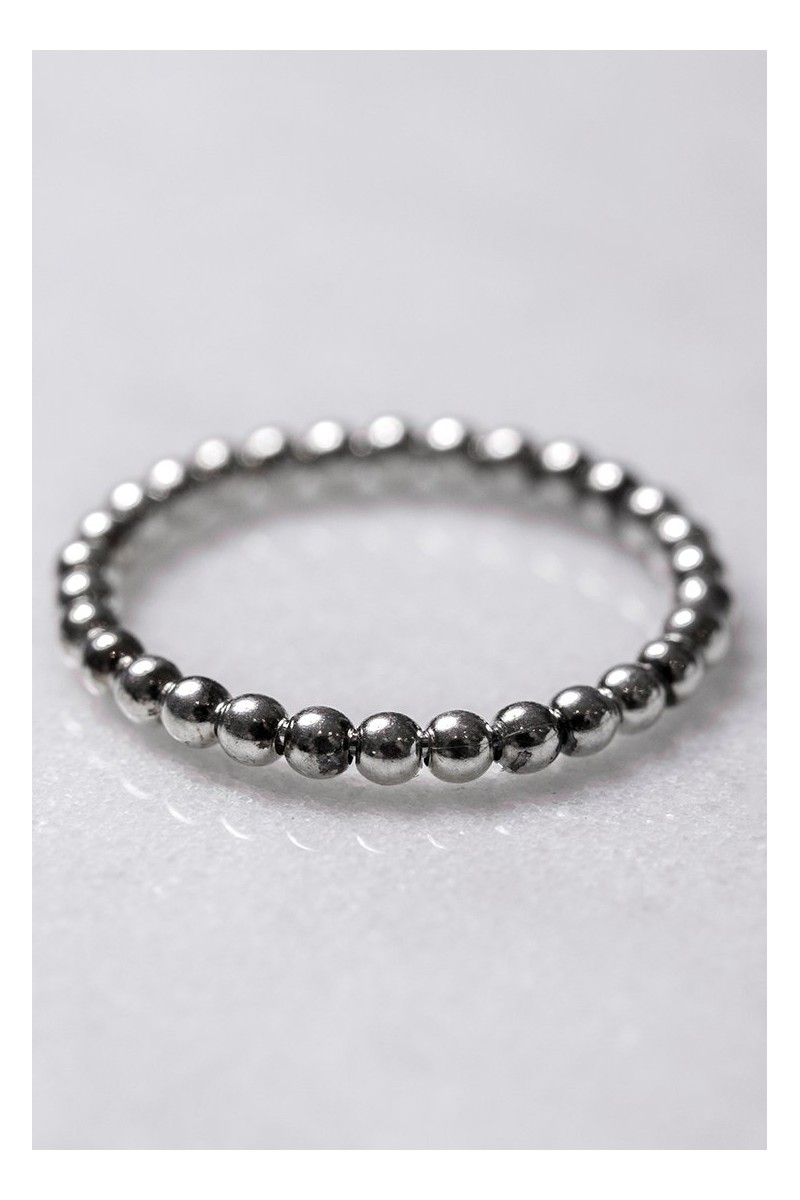 Tease By Tory - Women's Beaded Ring - Silver