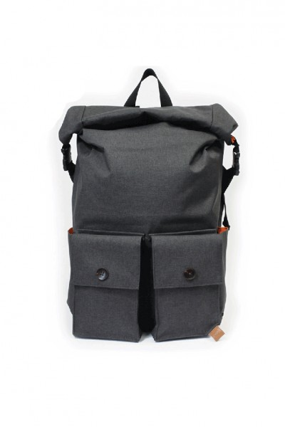 PKG - Rolltop Backpack - D Grey Fuzzy