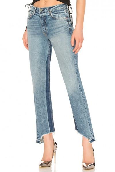 GRLFRND - Women's Helena High-Rise Straight Jean - Toxic
