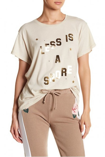 Wildfox - Women's Less Is a Snore Tee - Grey Swan