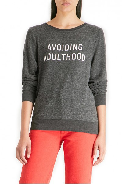 Wildfox - Women's Avoiding Adulthood Printed Jersey - Clean Black