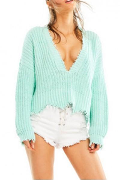 Wildfox - Women's Palmetto Sweater - Aqua Diver