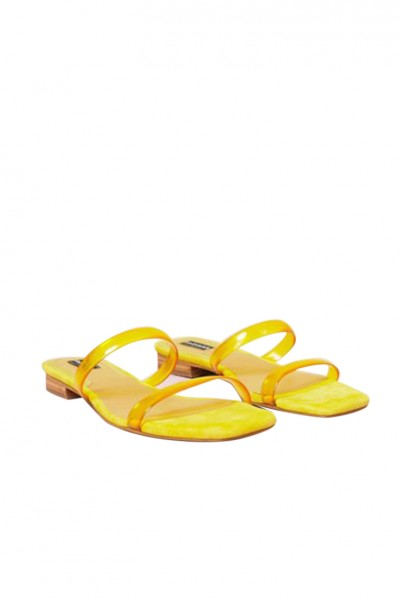 Jaggar - Women's Perspex Shoe - Lemon