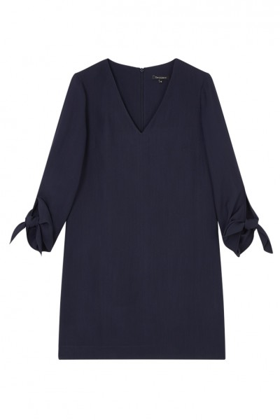 Tara Jarmon - Women's Double Cloth Dress - Midnight Blue