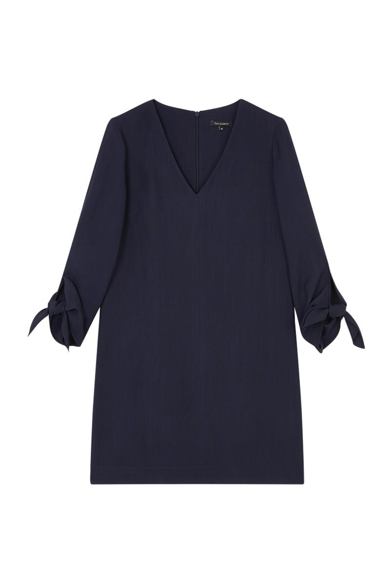 Tara Jarmon - Women's Double Cloth Dress - Midnight Blue