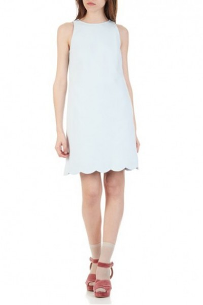 Tara Jarmon - Women's Short Straight Sleeveless Dress - Bleached