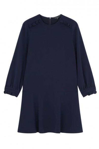Tara Jarmon - Women's Midnight Blue Dress - Midnight Blue