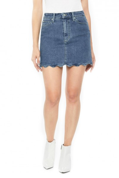 Joe's - Women's Bella Scalloped Denim Mini Skirt - Kenzie