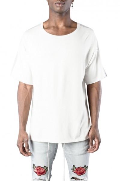 Kollar - Men's Stripe Knit Tee - White