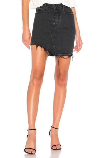 Grlfrnd - Women's Rhoda High Low Mini Skirt - True to self