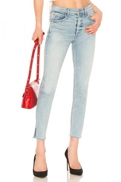 Grlfrnd - Women's Karolina High Waist Skinny Jeans - Titanium